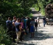На Рахівщині місцеві затримали авто із незаконною деревиною