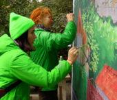 В одному з районів Ужгорода з'явилися чотири мурали