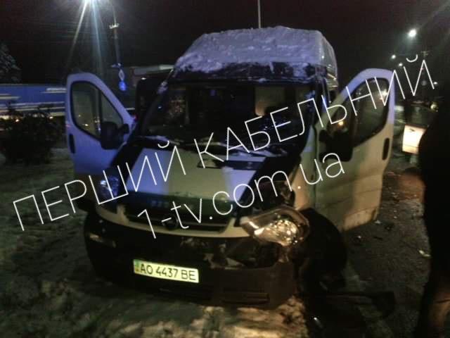 ДТП. Легковик врізався у мікроавтобус (ФОТО)